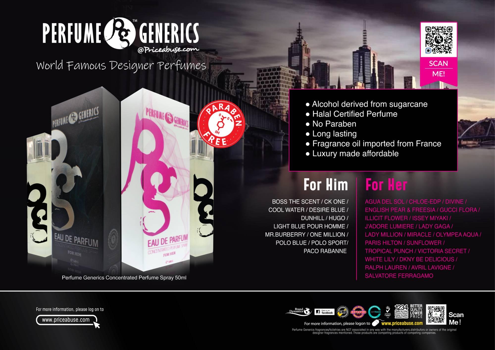 Perfume Generics 50ml