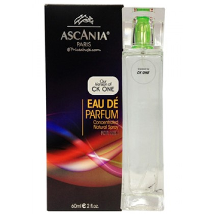 ASCANIA CONCENTRATED NATURAL PERFUME SPRAY INSPIRED BY CK ONE 60ML