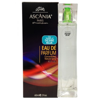 ASCANIA CONCENTRATED NATURAL PERFUME SPRAY INSPIRED BY DESIRE BLUE 60ML