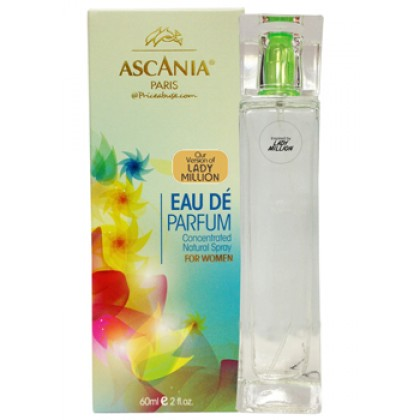 ASCANIA CONCENTRATED NATURAL PERFUME SPRAY INSPIRED BY LADY MILLION 60ML