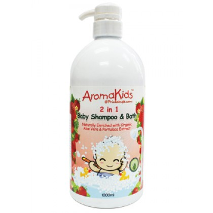 AROMAKIDS BABY 2 IN 1 SHAMPOO & BATH (STRAWBERRY) 1L
