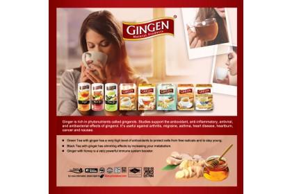GINGEN TEA BAG GREEN TEA WITH GINGER ( 20bag x 2g )