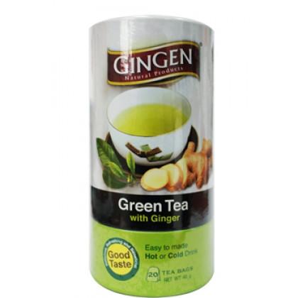 GINGEN TEA BAG GREEN TEA WITH GINGER