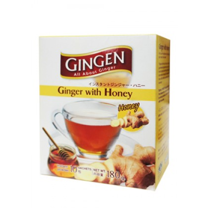 GINGEN GINGER DRINK INSTANT GINGER WITH HONEY (10saceht x 18g)