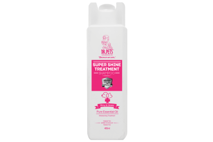 DR PETS NANOSILVER TREATMENT SHAMPOO SUPER SHINE (ENGLISH ROSE) 400ml