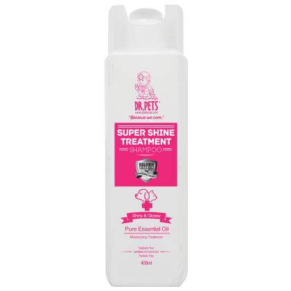 DR PETS NANOSILVER TREATMENT SHAMPOO SUPER SHINE (ENGLISH ROSE)