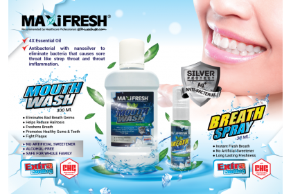 MAXIFRESH EXTRA COOLING MOUTHWASH  300ML