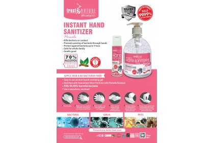 TRUST NATURE POMELO ANTI-BACTERIAL INSTANT HAND SANITIZER 60ML