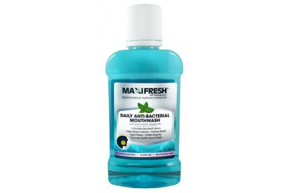 MAXIFRESH DAILY ANTI-BACTERIAL MOUTHWASH 300ML