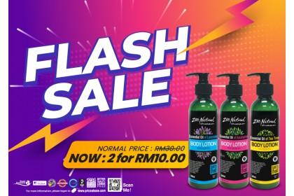 Flash Sale - 2 x Zen Natural Body Lotion Essential Oil 300ml