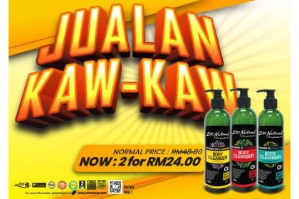 Jualan Kaw Kaw - 2 x Zen Natural Essential Oil Body Cleanser 500ml