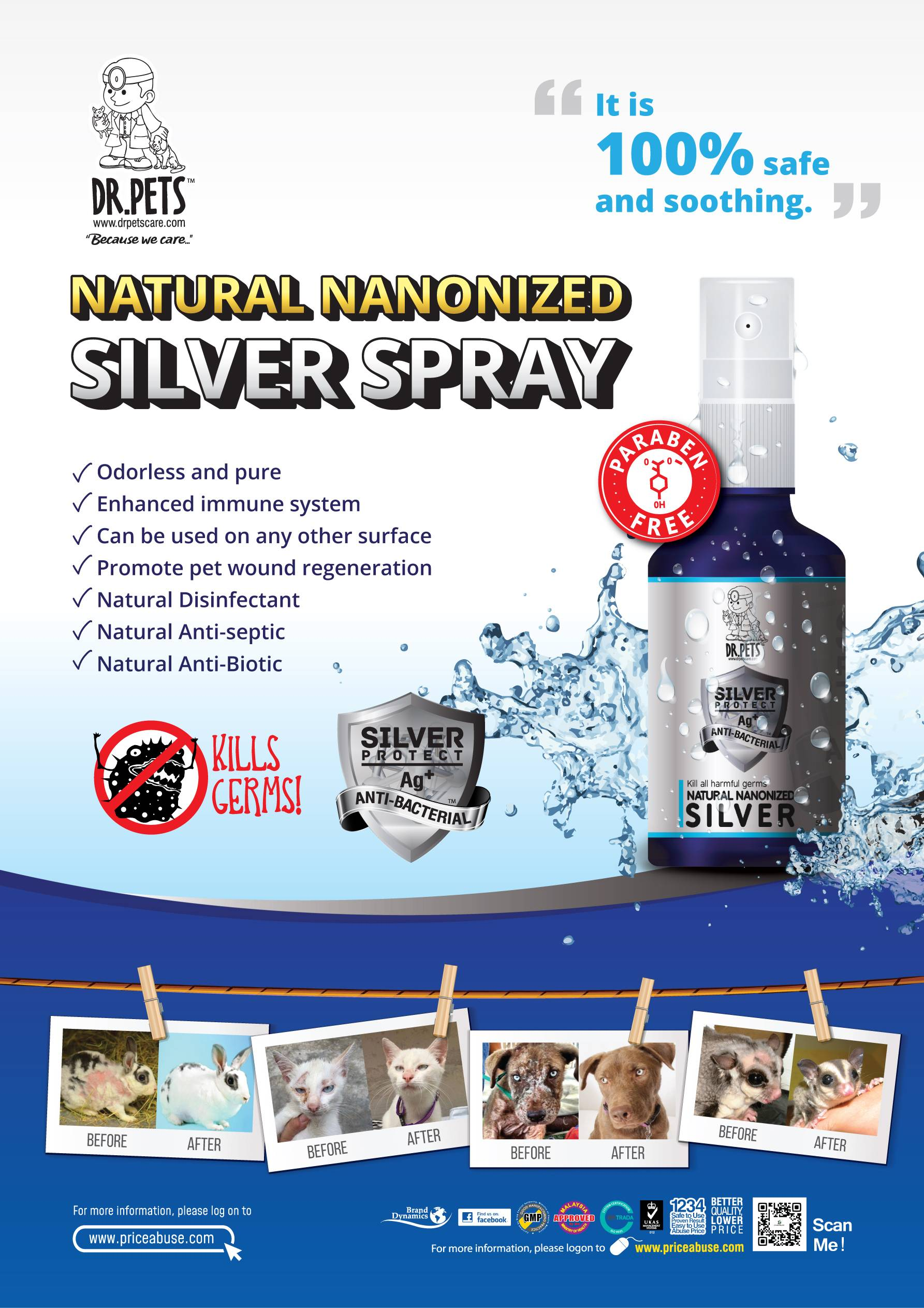 Dr Pets Nano Silver Spray